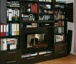 ikea besta tv schrank wand schwarz braun