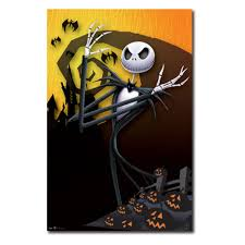 Motley Pumpkin Patch by The Nightmare Before Christmas Pumpkin Wall Poster