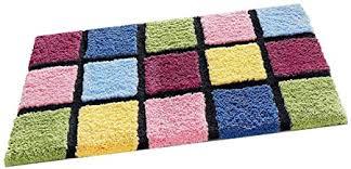 my home badteppich bunt kariert mehrfarbig 50x80 cm microfaser