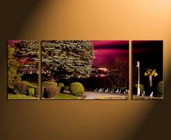 3 Piece Canvas Wall Art Home Decor Scenery Huge Pictures Green Artwork