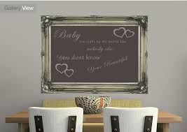 quotes baby you light up my world 1d chocolate wall murals