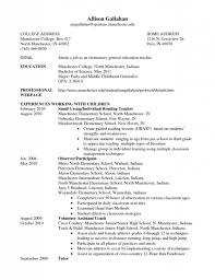 Elementary Teacher Resume Examples Resumes Project Special Education Objective Of Objectives Example Large Size