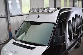 To Fit Volkswagen Crafter VW Stainless Steel Roof Light Lamp Bar Van ...