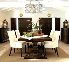 Pottery Barn Dining Room Style Rooms Wall Decor Brown Color Upholstered Chairs