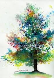 The Triad Tree Simple Watercolor PaintingsWatercolor TreesDiy PaintingWatercolor