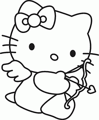 Gallery Of Printable Valentine Coloring Pages For Kids Cool2Bkids Throughout Hello Kitty