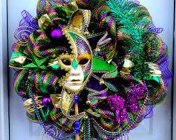 on sale deco mesh mardi gras wreath mardi gras door wreath