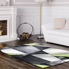 flachflor teppich abstrakt rhapsody 1525 grün flachflor