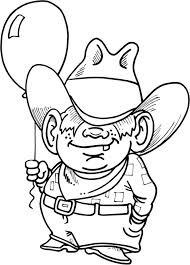 Old Western Town Coloring Pages Pleasure Horse Page For Preschool Cowboy