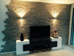 wandgestaltung stein lascas steinwand wohnzimmer