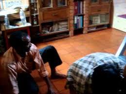 polishing a terracotta floor
