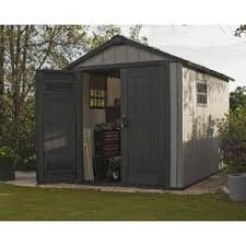 Suncast 7 X 7 Alpine Shed by 10x10 Plastic Storage Shed Wayfair