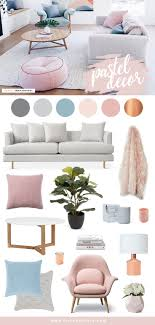 Pastel Home Decor And Interior Inspiration Scandi Design Mixed With Soft Blush Pink Powder Blue Hues