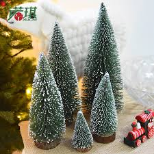 Noki White Snow Cedar Small Christmas Tree Mini Pine Needle Flocking