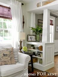 White Columns With Built In Shelves Great To Divide Up A Room