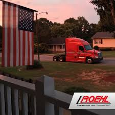 100 Roehl Trucking Truck At Drivers Home Transport Office Photo