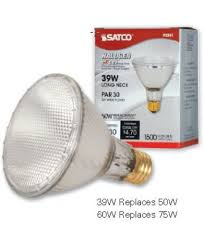 satco s2243 satco light bulbs 60par30l hal xen nfl 60 watt