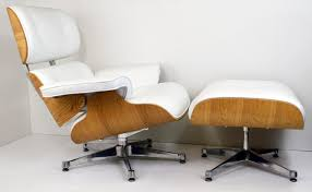 Furniture Beautiful Whitr Leather Tufted Swivel Eames Lounge ... Eames Lounge Chair Ottoman Replica Aptdeco Black Leather 4 Star And 300 Herman Miller Is It Any Good Fniture Modern And Comfort Style Pu Walnut Wood 670 Vitra Replica Diiiz Details About Palisander Reproduction Set