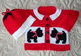 baby scottie dog sweater and hat tunisian crochet pattern