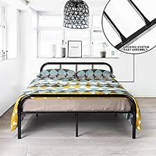 Amazon Metal Bed Frame Full Size GreenForest Two Headboards