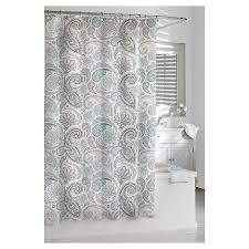 kassatex paisley shower curtain blue grey blue grey target