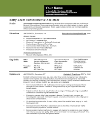 Resume Sample For Administrative Assistant With No Experience New Fice Job Example Extraordinary Templates