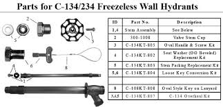 Freeze Proof Faucet Diagram by Prier C 134 Wall Hydrant