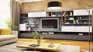 moderner tvschrank im luxuriösen wohnzimmer stockfoto und mehr bilder architektur