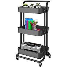 nidream 3 etagen küchenwagen rollwagen multifunktionaler servierwagen mit beweglichen rädern für küche schlafzimmer badezimmer und balkon