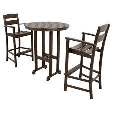 Wayfair Kitchen Pub Sets by Ivy Terrace Classics Mahogany 3 Piece Patio Bar Set Ivs111 1 Ma