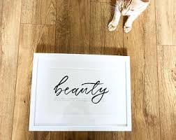 Bespoke Dictionary Word With Meaning Beauty Calligraphy Modern Rustic
