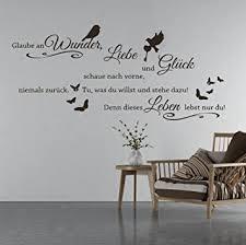 tjapalo s tk03a 110x53cm wandtattoo wohnzimmer wandtatoo wandspruch glaube an wunder liebe und glück in vielen farben