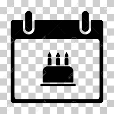 Birthday Cake Calendar Day icon Vector illustration style is flat iconic symbol black color