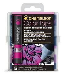 Chameleon 5 Pk Color Tops Set Floral Tones