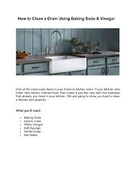 Slow Draining Bathroom Sink Baking Soda by How To Unclog A Kitchen Sink With Baking Soda U2013 Second Floor