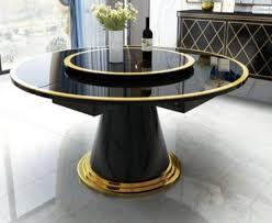luxus esstisch runde esstische drehbarer wohn esszimmer rund tisch edelstahl