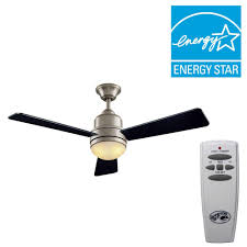 Home Depot Hampton Bay Ceiling Fan Globe by Hampton Bay Trieste 52 In Indoor Brushed Nickel Indoor Ceiling