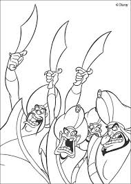 Aladdin Sultan Soldiers Coloring Page