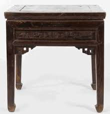 Antique Asian Furniture Square Stool Or Low Table From Shanxi Province China