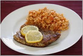 cuisine avec du riz escalope milanaise à ma façon et riz à la tomate en passant