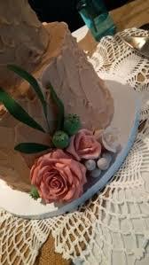 Rustic Buttercream Wedding Cake Weddingcake Toronto Mylilcakery Roses Bruniaberries