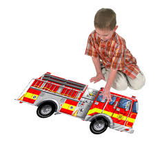 100 Melissa And Doug Fire Truck Puzzle Giant Floor 24pcs Squirts Toys