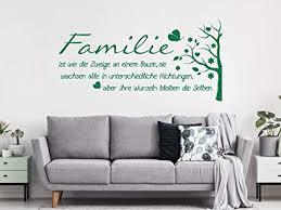 dekoration wandtattoo familie ist das wahre glück wohnzimmer