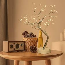 dinapents led bonsai baum lichter 108 led lichterbaum tisch bonsai baum blüten licht künstliches baum usb batteriebetrieben dekobaum kleine