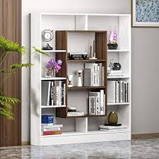 homidea venus bücherregal standregal büroregal raumteiler für wohnzimmer büro in modernem design weiß nussbaum