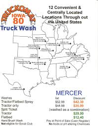 100 Iowa 80 Truck Wash TRUCKOMAT DISCOUNT Mercer Transportation Co Join The Mercertown