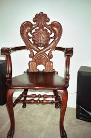 Press Back Chairs Oak by Beautiful Antique Carved Oak Chair Ebay Quartersawn Oak