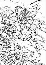 Complicated Fairy Colouring Pages Coloring Prints