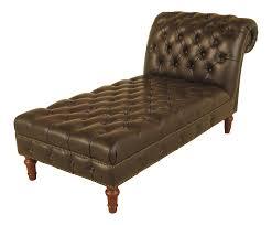 Henredon Tufted Dark Brown Leather Chaise Lounge | Dark ...