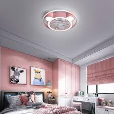kinder deckenventilator mit beleuchtung und fernbedienung leise timing ratte led rosa deckenleuchte mit ventilator rund deckenventilator mit le für